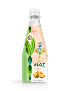 300ml Pet bottle Strawberry flavor  Chia  Seed with Aloe Vera Drink