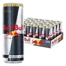 Original Red Bull Total Zero, Energy Drink, 12 Fl Oz Cans, 24 Pack