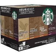 Original Keurig K-Cup Starbucks Coffee Pods, Variety Pack - 40 count, 16.9 oz