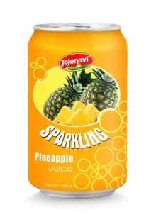 sparkling pineapple juice in aluminium can 330ml