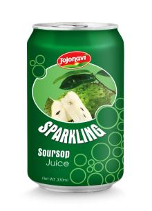 Sparkling soursop juice for can 330ml