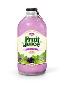340ml Glass bottle Fresh Grape Fruit Drink