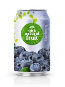 330ml Natural Fresh Blueberry Fruit Drink