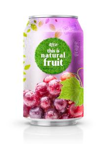 330ml Natural Fresh Grape Fruit Drink