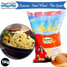 Couscous With Durum Wheat semolina flour. Premium quality Couscous. Couscous Thin Grain Bag 1Kg