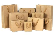 Wholesale Recycled Custom Printed Grocery  Food  Take Away Shopping  Brown   Kraft   Paper   Bag  With Twisted