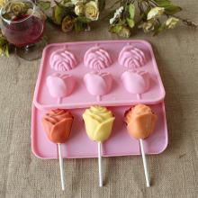 Square Soft Candy Rainbow Jelly pop Lollipop