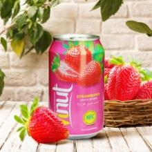 330ml Canned Real Strawberry Juice Drink