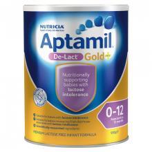 Nutricia Aptamil Gold+ De-Lact Lactose Free Infant Formula 900 g