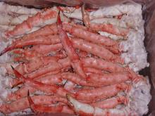 Frozen cooked king crab legs