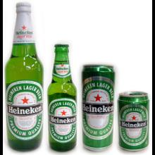 Heineken cans and bottles for export