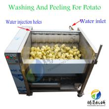 automatic potato brush peeling and washing machine