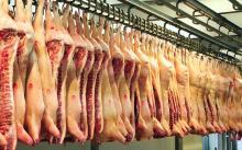 frozen pork collars, boneless, straight cut for sale