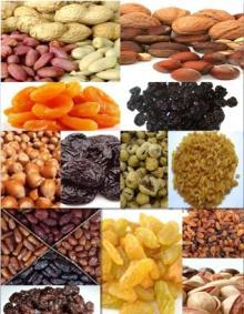 hazelnut Walnuts raisins Pistachio Plums Apricots cherries peanuts