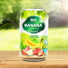 330ml Canned Banana Juice Puree with Strawberry