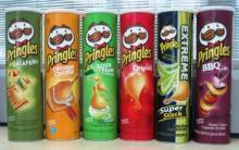 Pringles 40g, 65, 150g, 154g, 161g, 165g ,169g and 187g