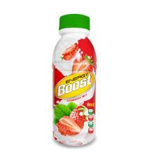 350ml Bottle Energy Boost Strawberry Milk Drink
