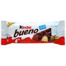 Kinder Delice Cocoa Coconut T1, Kinder Maxi 21g, Kinder Bueno 43g, Kinder Bueno Mini 108g