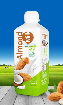 1000ml PP  bottle  Almond  Milk  with  Coconut  Drink