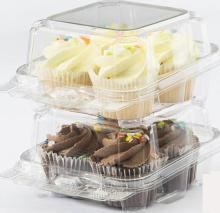 Cupcake,  Muffin  and Roll OPS Containers