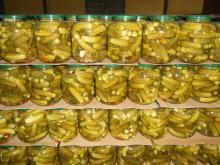 PICKLED BABY CUCUMBER IN GLASS JAR 720MT