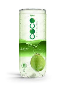 250ml Pet Can Kiwi Flavor Sparkling Coconut Water