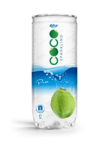 250ml  Pet Can Pure Sparkling Coconut Water