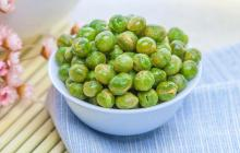 Green peas original flavor snack foods