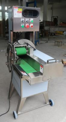 Cooked meat cutting machine