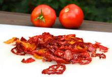 South African dried vegetable dehydrated tomatoes