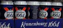 100% KRONENBOURG BEER 1664 BLANC CAN AND BOTTLE
