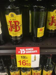 100% pure J&B Rare Whisky 0.70cl