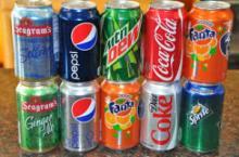 Soft Drinks Mirinda, Sprite, Coke, Fanta, Lipton Ice Tea, Pepsi