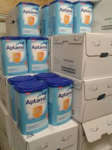 Aptamil and Nutrilon baby milk all stages