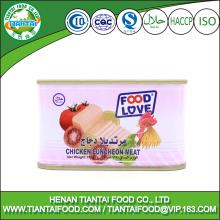 hot selling products canned food canned chicken luncheon meat 198grams