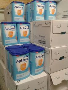 We supply from the Aptamil milk powder with all stages