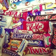 Milky Way,Maltesers,Ritter Sport,M&Ms Chocolate