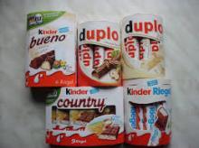Kinder Duplo,Kinder Delice,Kinder Country