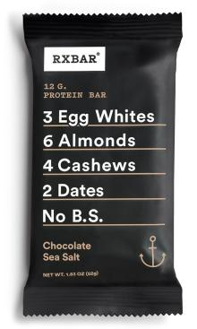 RXBAR Whole Food Protein Bar, Chocolate Sea Salt