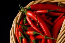 Hot fresh red chilli