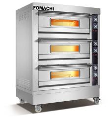 Bread Electric Deck oven 3 Deck 6  Tray s FMX-O38C