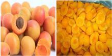 Frozen apricot halves
