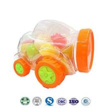 mixed fruit flavor jelly in car bottle packing