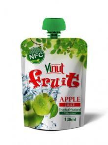 130ml Tropical Green Apple fruit Juice Drink Bag