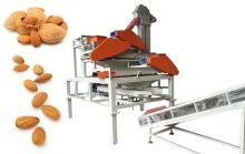 Almond Hazelnut Broad bean Shelling Hulling Machine Three Stage
