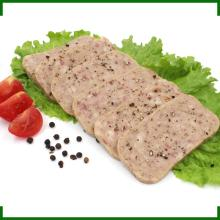 OEM canned meat easy open 340g canned pork luncheon meat with blackpepper