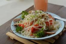 With high viscosity and quality shirataki pasta
