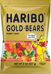 Minibags HARIBO Gold Bears 980g Box