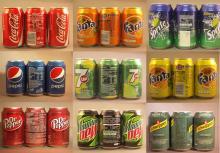 coca-cola,  fanta , sprite, 7up, pepsi
