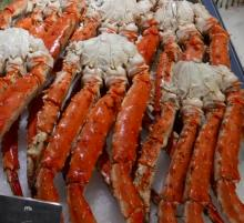 Cooked frozen king crab legs